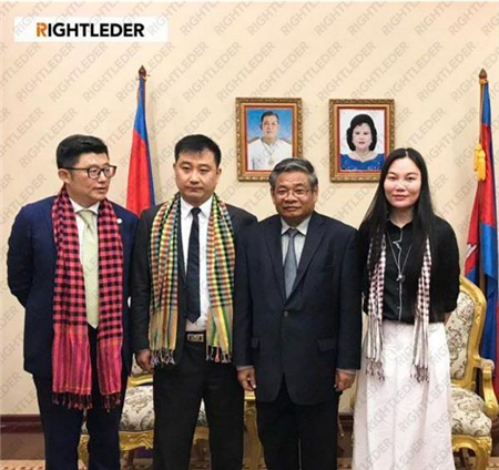 Cambodian Deputy Prime Minister met with Mr. Su Zhanhua, CEO of RIGHTLEDER Environment